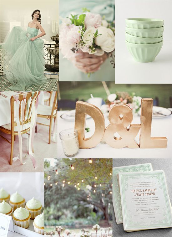 Mint & Gold Gala Wedding Inspiration- I do love gold at a wedding, it's such a gorgeous statement but appears almost as a neutral paired with the fresh mint green. This wedding is fun and modern with a Spring twist.