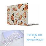 Newest Flower Pattern Full Body Hard Case Cover and TPU Keyboard Cover for Macbook Retina 13.3 inch