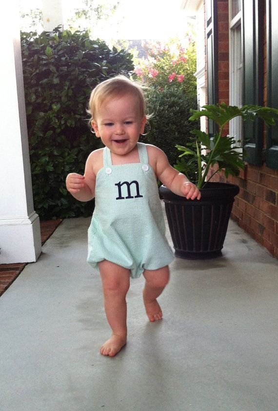 Personalized Or Monogrammed Baby Boy S Sunsuit Bubble