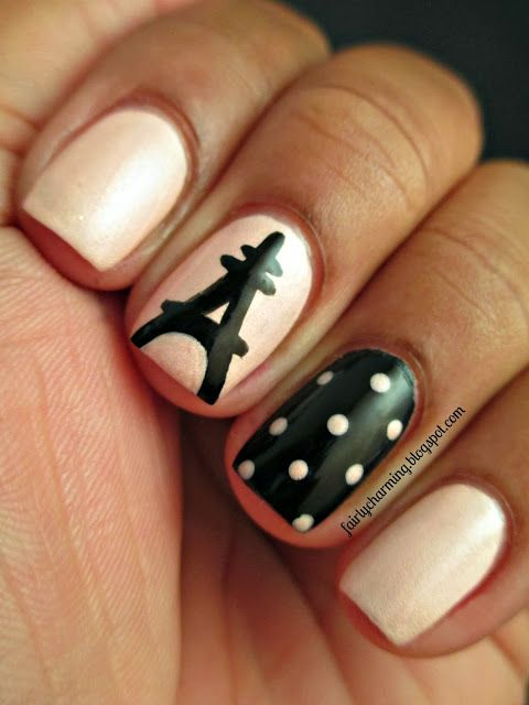 Manicures and Paris, two things I love, different design replacing the polka dots though.