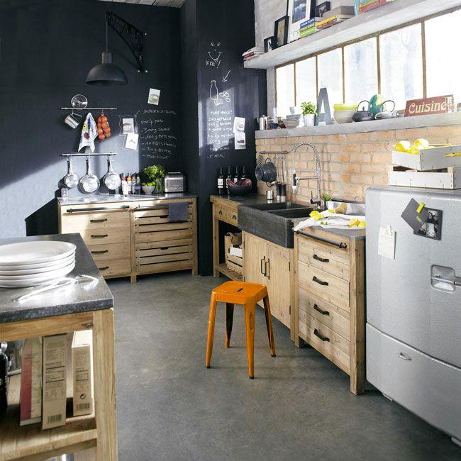 Paredes de pizarra para decorar la cocina interior - Decorar las paredes de la cocina ...