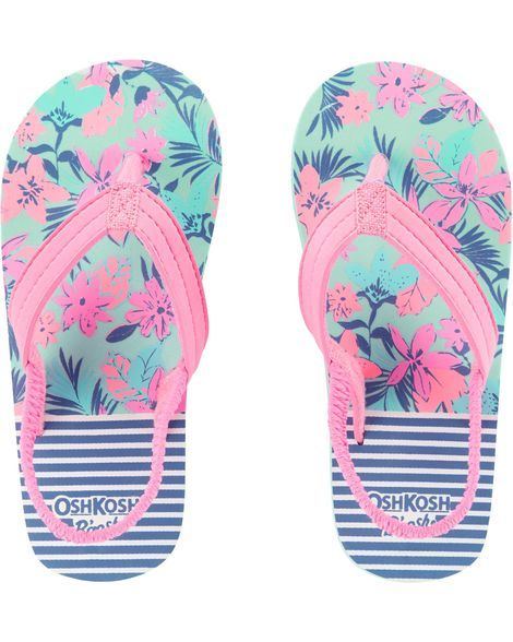 118127fbe39b Baby Girl OshKosh Floral Flip Flops from OshKosh B gosh. Shop clothing    accessories from a trusted name in kids