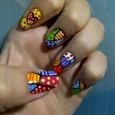 Nail Art Gallery romero britto Nail Art Photos