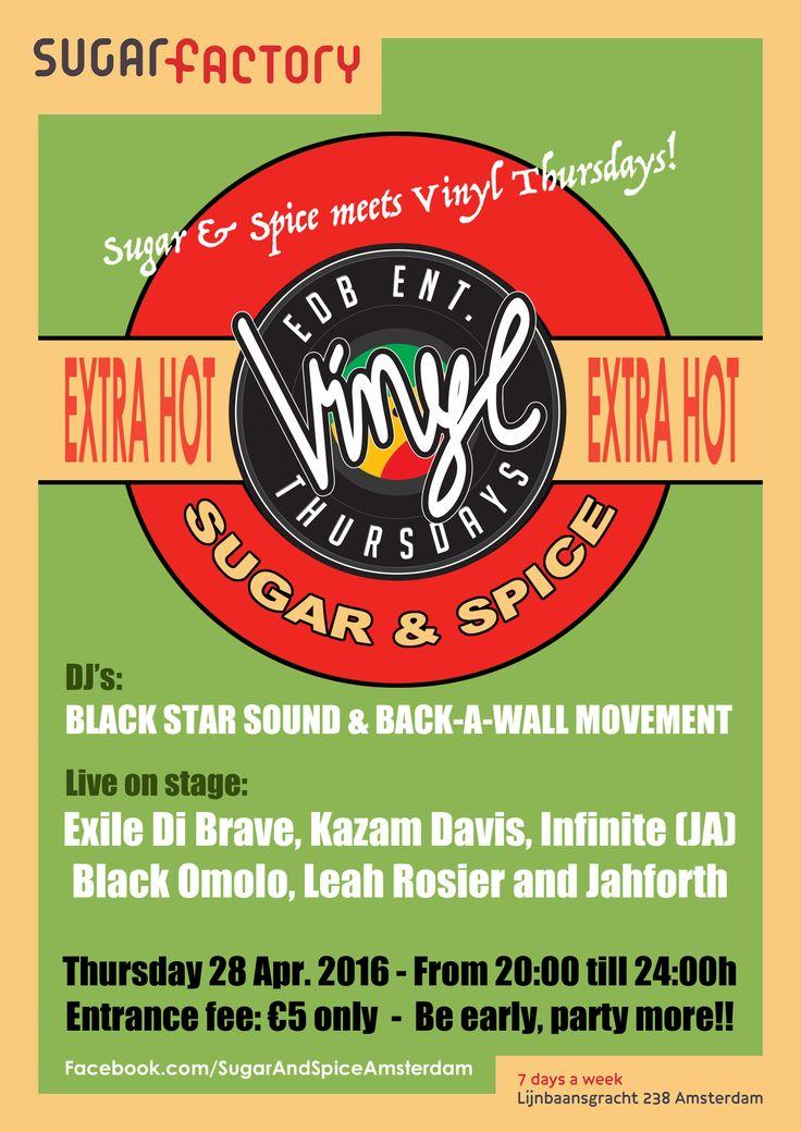 Sugar & Spice meets Vinyl Thursday in Sugarfactory in Amsterdam (2016)