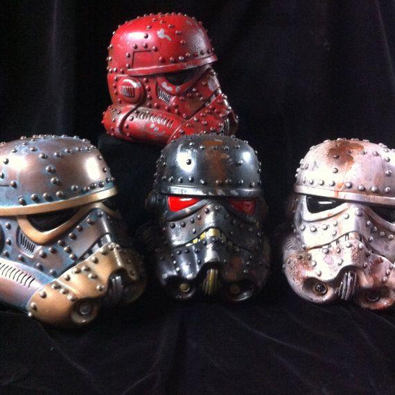 Red Steampunk Stormtrooper Helmet Star Wars Design A by kyoob