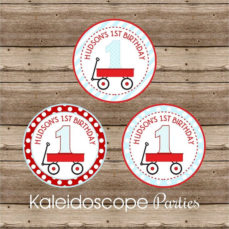 Little Red Wagon Personalized Stickers