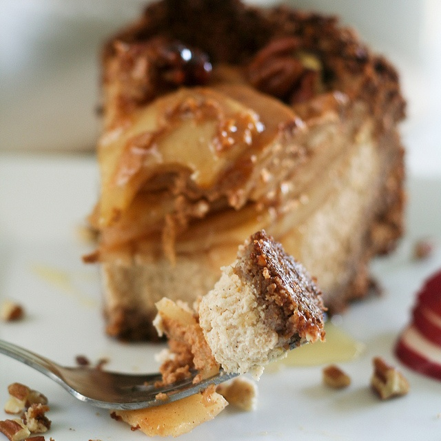 Apple Pecan and Honey Caramel Cheesecake-19 by The Healthy Foodie, via ...