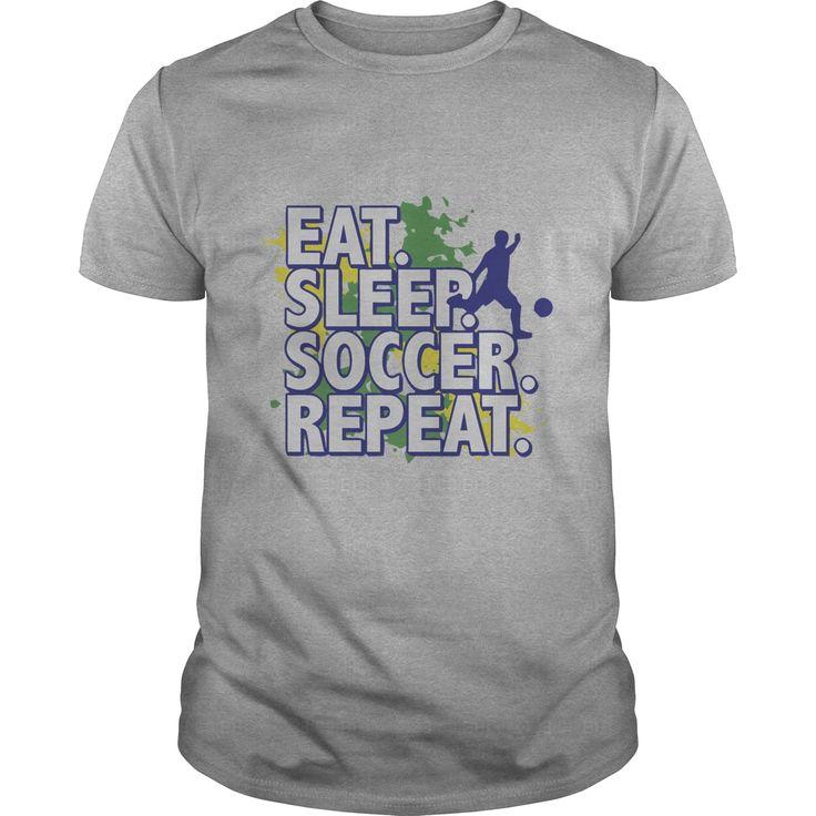 Eat Sleep Soccer Repeat t shirts and hoodies
