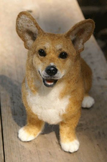 How are these felted animals made to look so real!?! 1095zegen.jpg (355×536)