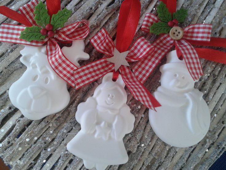 gessetti natalizi profumati realizzati con polvere di ceramica- handmade by IlCassettodeiSogni