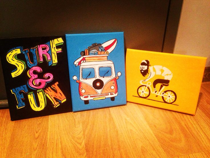 Mini canvas art awesome project
