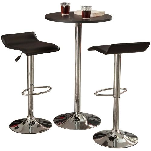 winsome metro 3piece pub bistro set indoor bistro sets at hayneedle