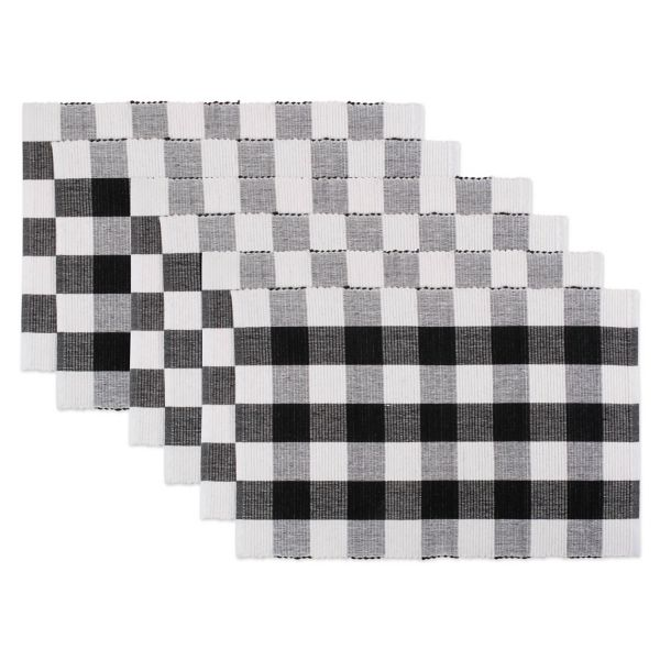 Black And White Buffalo Check Placemats Set Of 6 From Kirkland S Buffalo