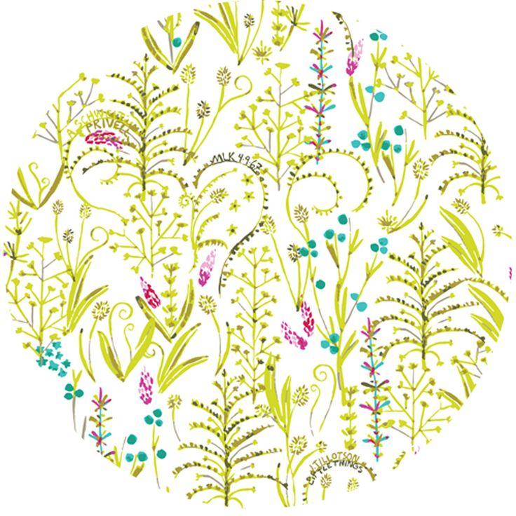 Sarah Watson for Cloud9, Garden Secrets, ORGANIC, Quote Garden Green