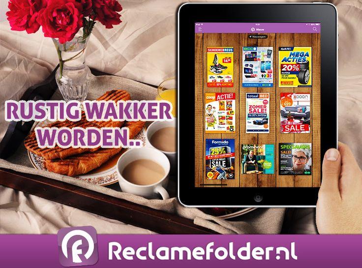 De nieuwe folders staan klaar. Bekijk de nieuwe folders op Reclamefolder.nl of download onze Reclamefolder-app. Fijne zondag!