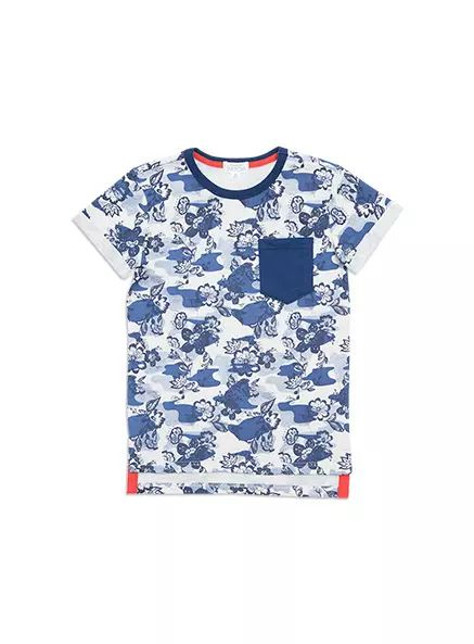 Boyswear // Floral Camo Printed Tee