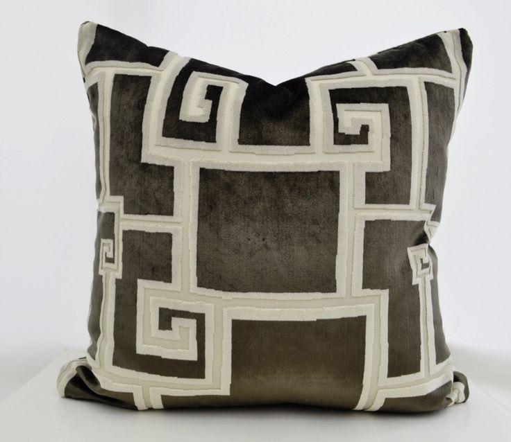 Geometric Velvet Pillow Cover,Green Velvet Pillow Cover,Patterned Pillow,Beige Pillow ,Cream Velvet Pillow,Geometric Velvet Pillow Cover by LaletDesign on Etsy https://www.etsy.com/listing/207352806/geometric-velvet-pillow-covergreen
