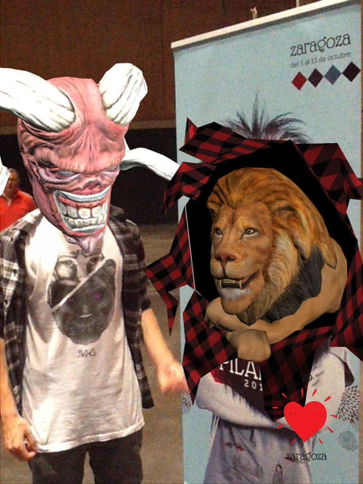 Lion #augmentedreatliy poster and #clothing AR experience. two in one!
