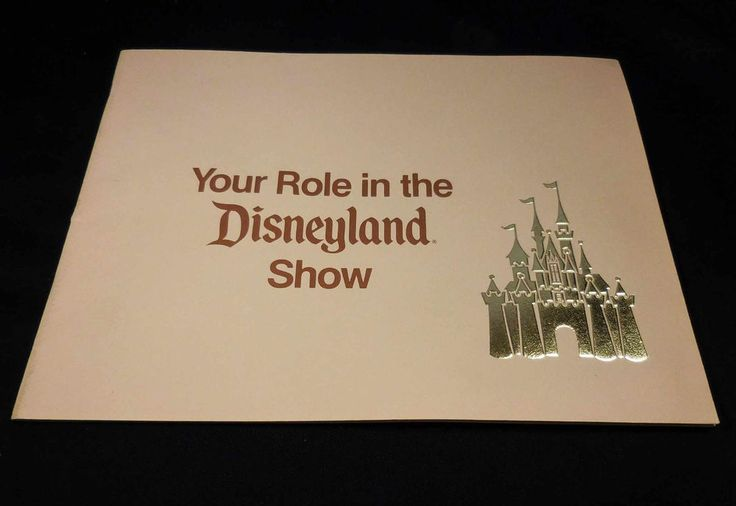 """1970s Disney CAST MEMBER """"Your Role in the Disneyland Show"""" Orientation Book…"""