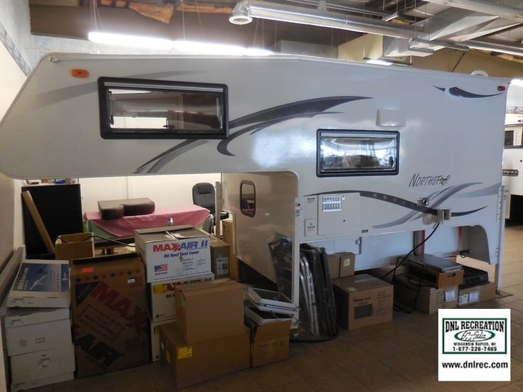 2015 Northstar 8.5 Adventurer available at DNL Recreation in Wisconsin Rapids, WI | Truck camper loaded with features. Bathroom, fridge, seating area, and 3 burner cooktop - - SOLD But can be ordered