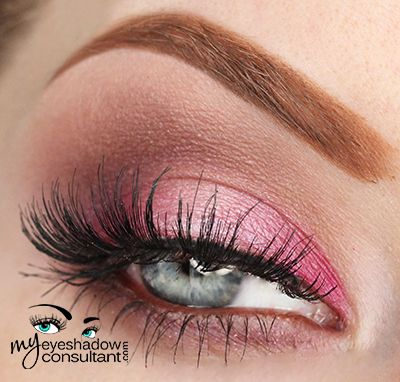 My Eyeshadow Consultant: Too Faced Chocolate Bon Bon Palette Eyeshadows used:  Fetch (inner and outer third of lid) Cotton Candy (middle of lid) Mocha (crease) Black Currant (deepen outer v)