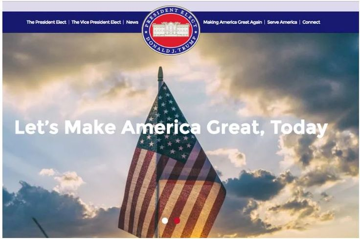 Donald+Trump's+campaign+slogan+is+now+an+official+government+website