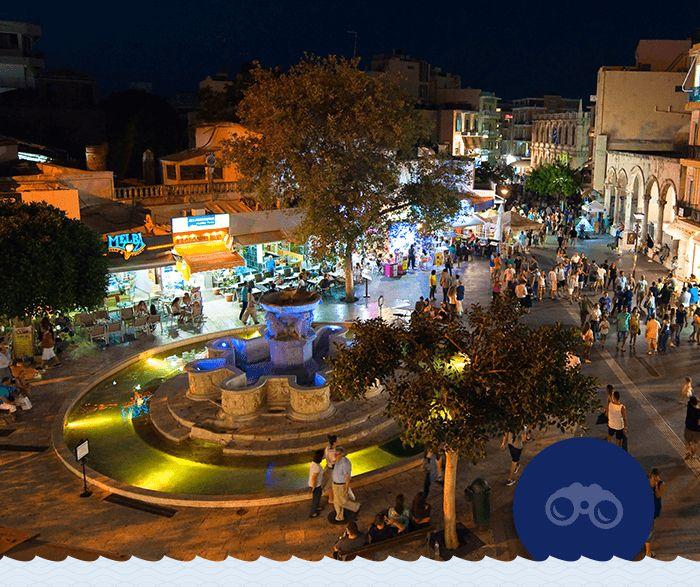 """Νυχτερινές, καλοκαιρινές βόλτες γύρω από τα πιο «φιλικά» Λιοντάρια όλου του κόσμου. Εμπειρίες που μπορεί να ζήσει κανείς ταξιδεύοντας στο Ηράκλειο με τη Minoan Lines! http://www.explorecrete.com/Heraklion/GR04-Heraklion-lions-square.html  #Minoan_escapes  Summer nights walking around the most """"friendly"""" lions in the whole world. Travel to Heraklion with Minoan Lines to visit the famous Morosini Fountain at Lions Square…"""