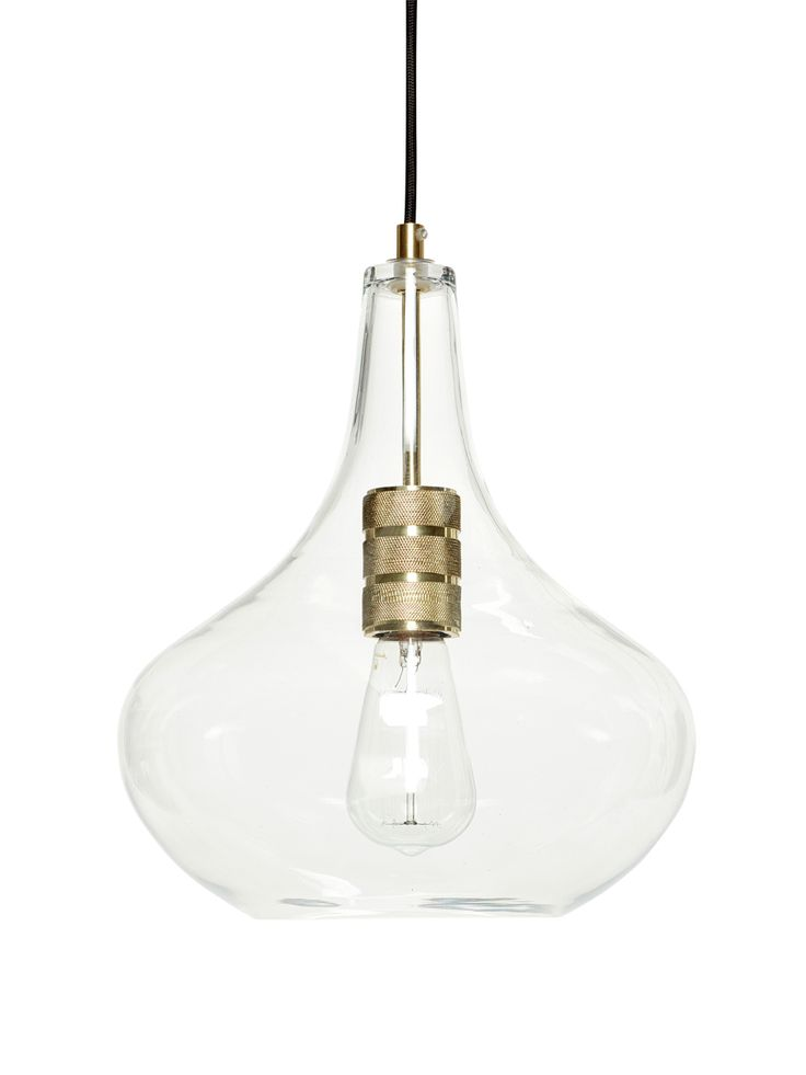 Deckenlampe Glas Messing Von HBSCH Interior