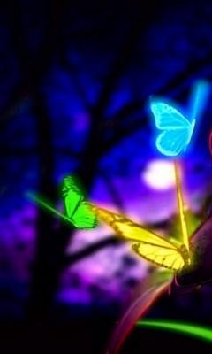 17 Best images about neon butterflies on Pinterest ...3d Neon Butterflies