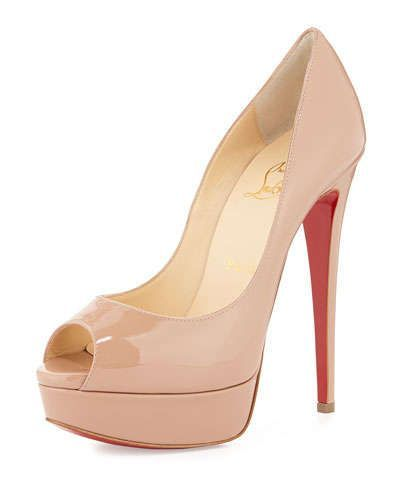 Christian Louboutin Lady Peep Patent Red Sole Pump b5df4cfe4a