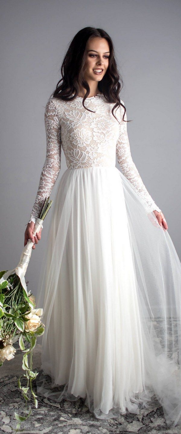 Los 10 mejores vestidos de novia de manga larga de Etsy