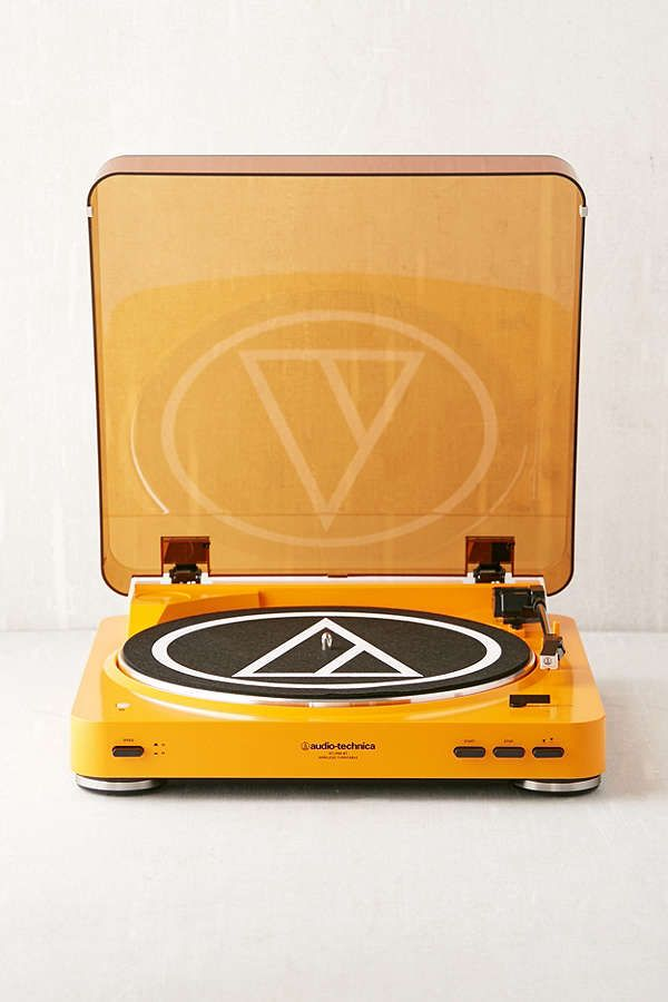 Slide View: 1: Audio-Technica X UO Pumpkin AT-LP60 Bluetooth Record Player