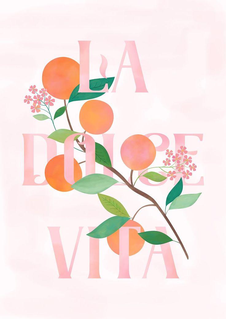 Carly Watts Art & Illustration: La Dolce Vita #poster #artprint #wallart #ladolc…
