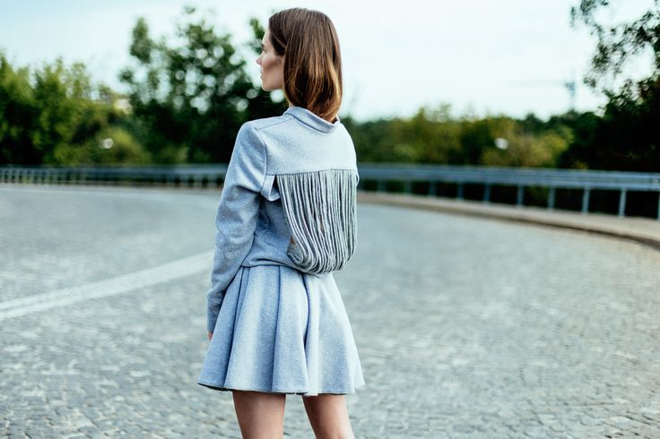 Fludra Slow Fashion sweatshirt & skirt, designer Anna Fludra