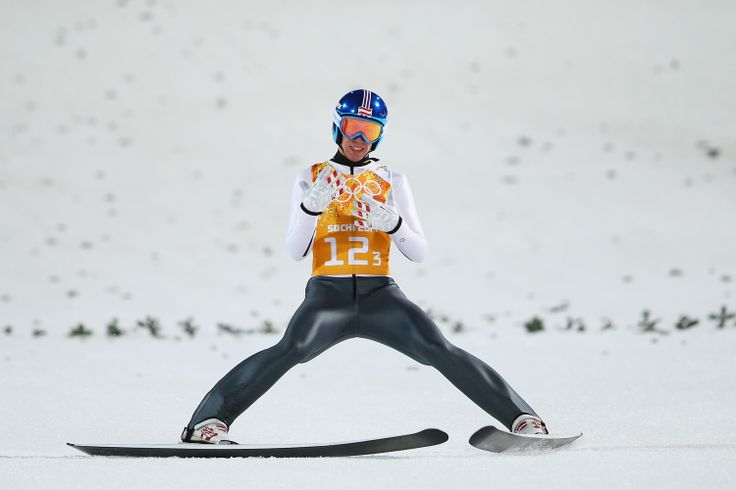 Thomas Diethart of Austria jumps during the Men's Team Ski Jumping final round (c) Getty Images
