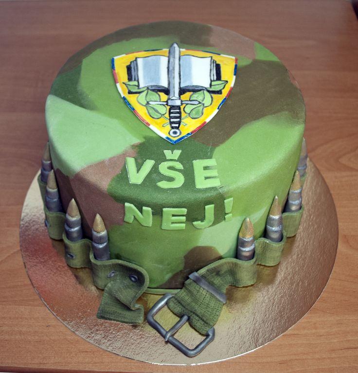 Dort pro studenta Univerzity obrany v Brně. Cake for student of Military University.