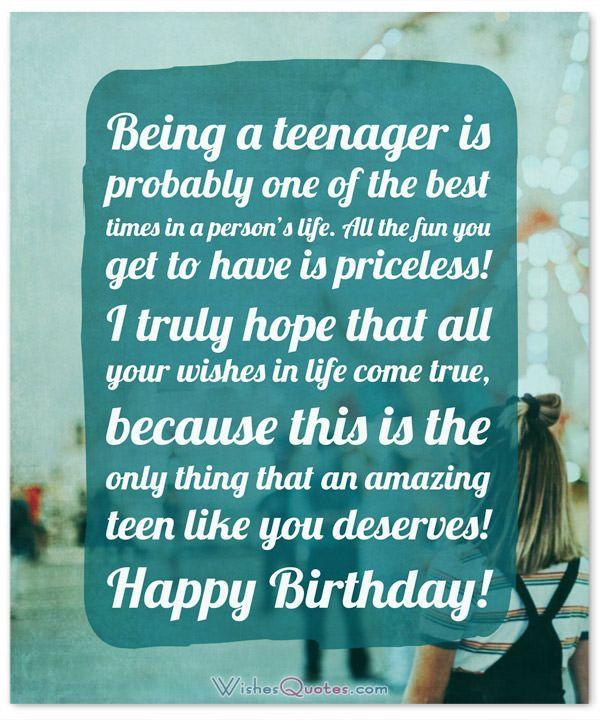 Teenage Birthday Quotes : teenage, birthday, quotes, Birthday, Wishes, Teenagers, Article, Dreams, Happy, Teenager,, Myself