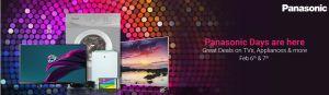 Flipkart Panasonic Days  Get Great Deals on TVs  Appliances and more