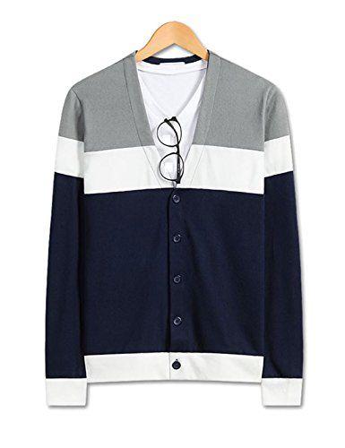Showblanc (SBSBGA25) Attractive People Urbane 3 Striped Color Knitwear Cardigan GRAY Medium(Chest 36) Showblanc http://www.amazon.com/dp/B0151MYEIA/ref=cm_sw_r_pi_dp_KlWlwb140XE3K