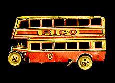 Autobús de dos pisos de lata de Rico. Años 40