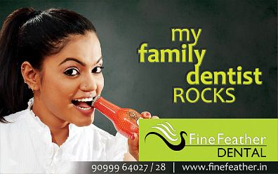 Get rid of dull ill colored teeth and enhance facial integrity, smile, confidence. at Fine Feather Dental. http://www.apnazon.com/ahmedabad/beauty-and-fitness/fine-feather-dental/1101/