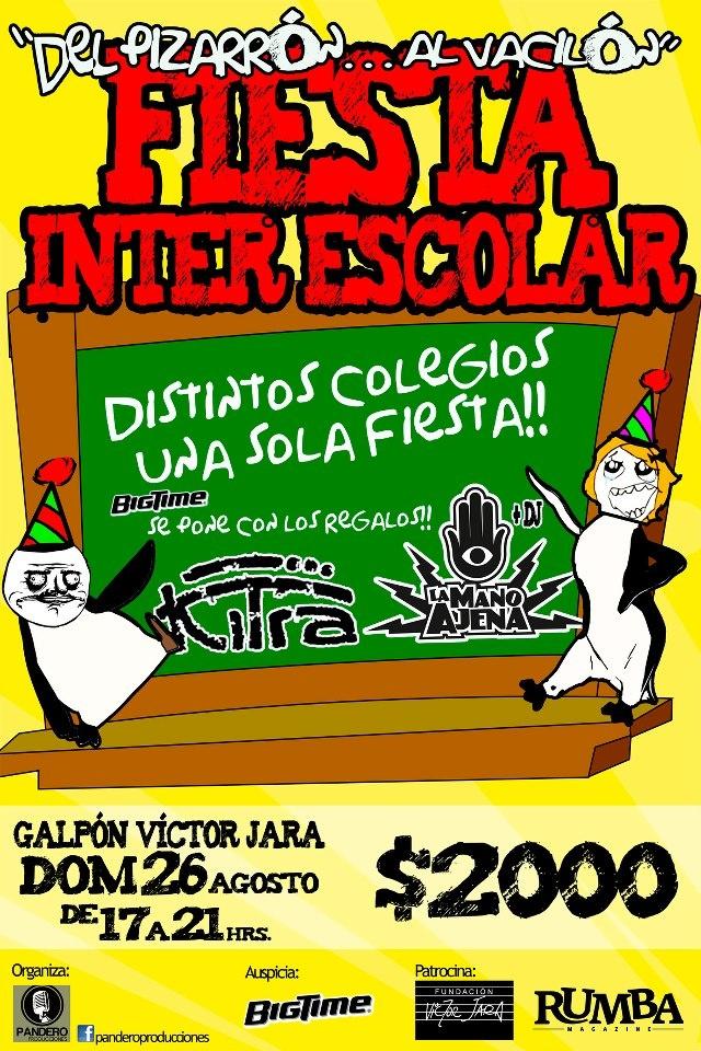 Fiesta Escolar agosto 2012