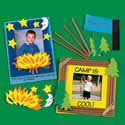 Camp rules photo magnet craft kit. Summer crafts.