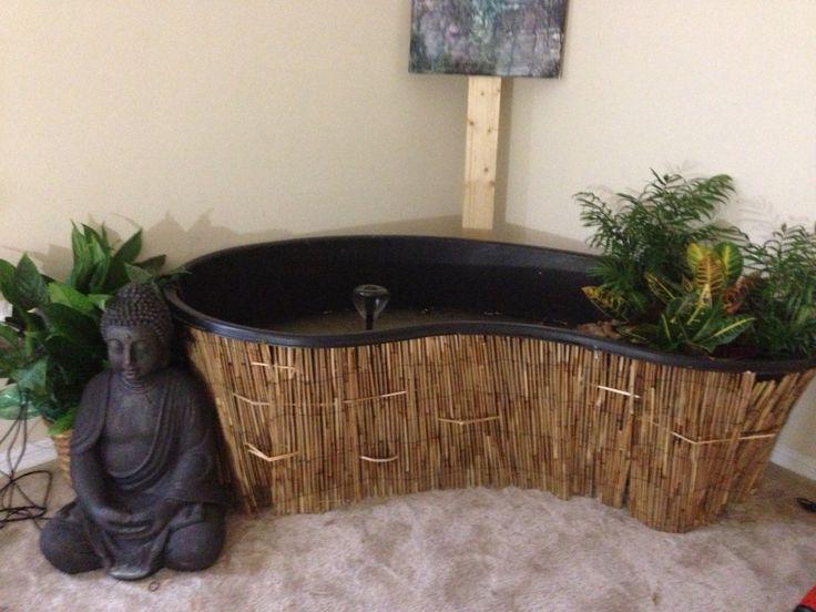 22 best koi pond indoor images on pinterest indoor for Indoor fish pond design