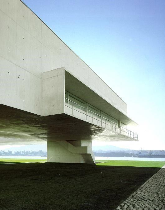 Beautiful shape, with lovely surroundings.      Municipal Library, Viana Do Castelo, Portugal by Alvar Siza