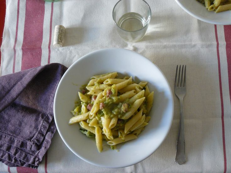 Courgette and bacon pasta