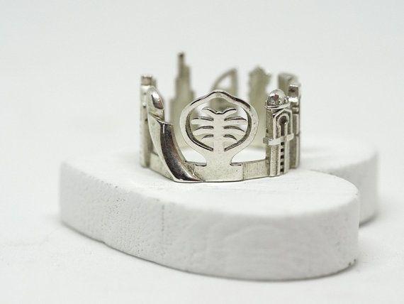 Dubai Cityscape  Skyline Statement Ring  Wedding by Shekhtwoman