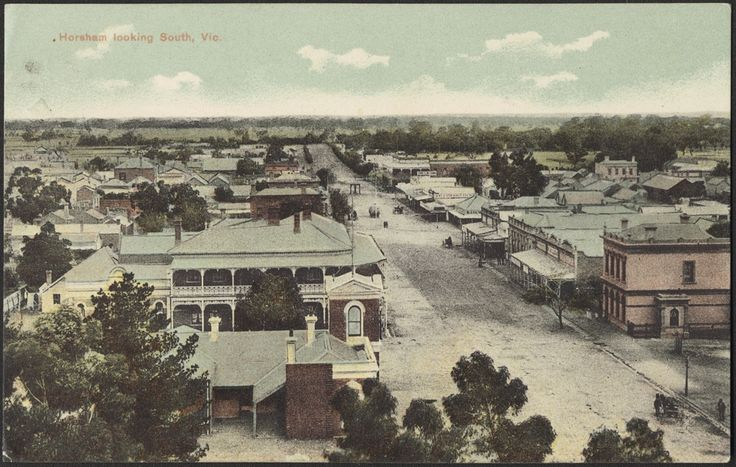 Horsham, Victoria, Looking South, c1900s