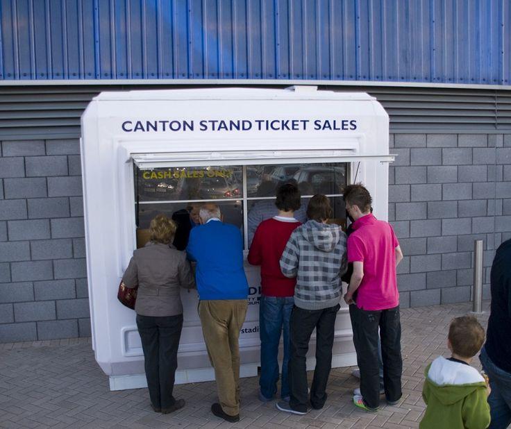 Cardiff City FC ticket sales kiosk
