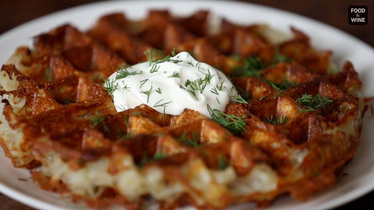 F&W's Justin Chapple reveals an easy way to make extra-crispy hashbrowns in a waffle iron....
